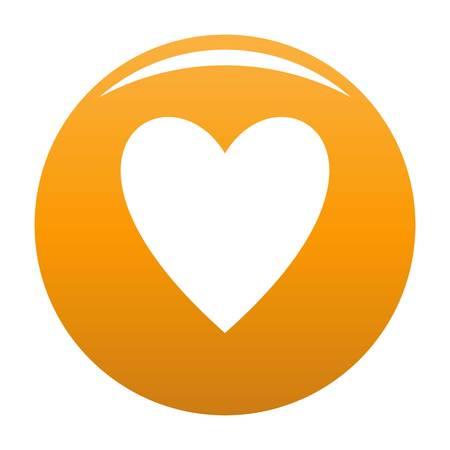 Open heart icon orange