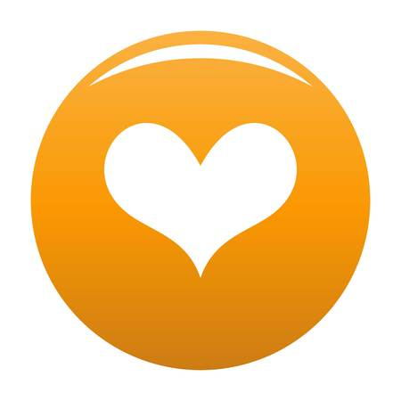 Gustatory heart icon orange Stock Photo