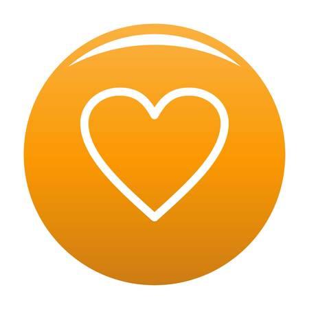 Ardent heart icon orange