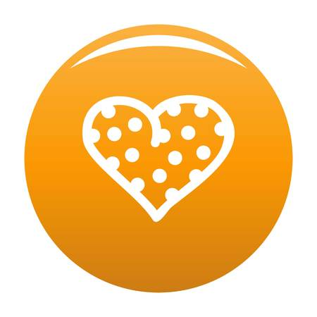 Pea heart icon orange