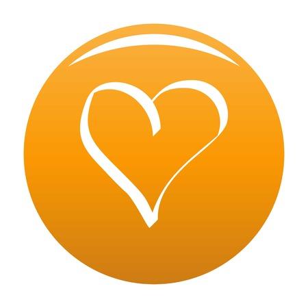 Best heart icon orange Stock Photo
