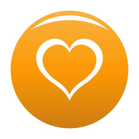 Heart icon orange Stock Photo