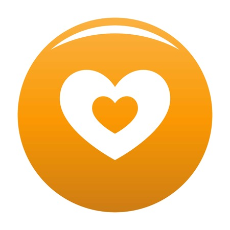Double heart icon orange Stock Photo