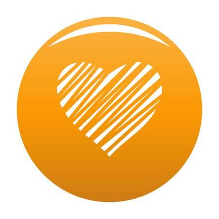 Shaded heart icon orange