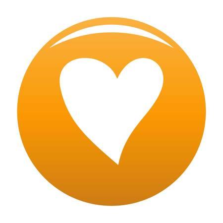 Cruel heart icon orange