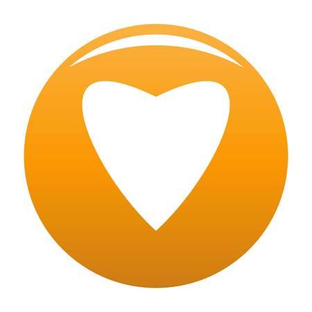 Proud heart icon orange Stock Photo