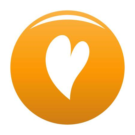 Deaf heart icon orange Stock Photo - 106609728