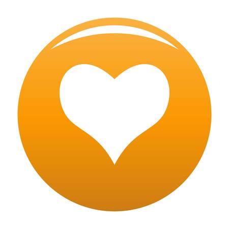 Kind heart icon orange