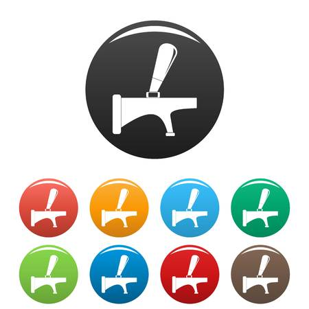 Tap icon. Simple illustration of tap icons set color isolated on white