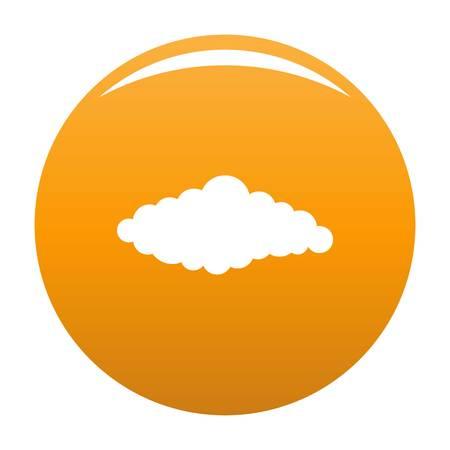 Fluffy cloud icon orange