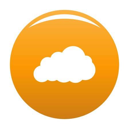 Storm cloud icon orange Stock Photo