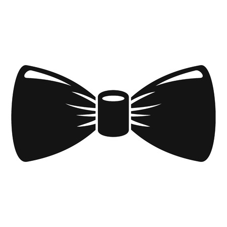 Retro bow tie icon, simple style Stock Photo