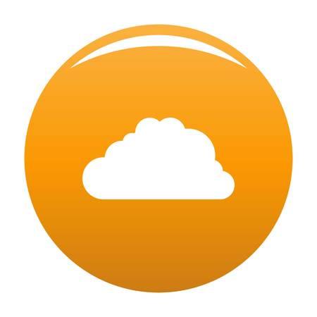 Big cloud icon orange