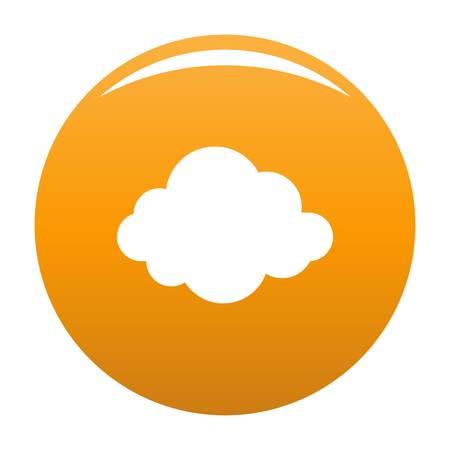 Autumn cloud icon orange