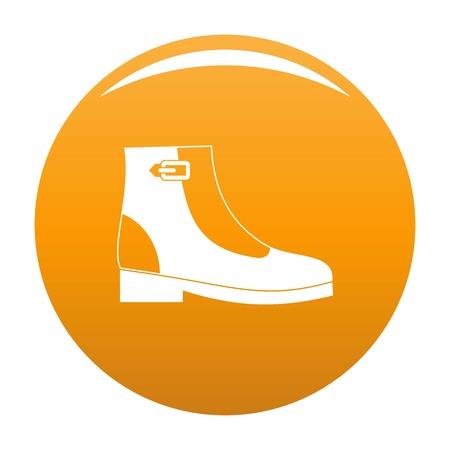 Woman boots icon orange