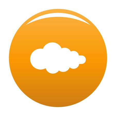 Cloud with fallout icon. Simple illustration of cloud with fallout icon for any design orange Stock Photo