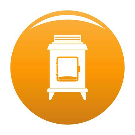 Old oven icon orange Banque d'images