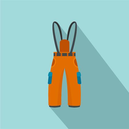 Hiking pants icon, flat style