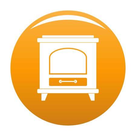 Ancient oven icon orange Stock Photo - 106064753