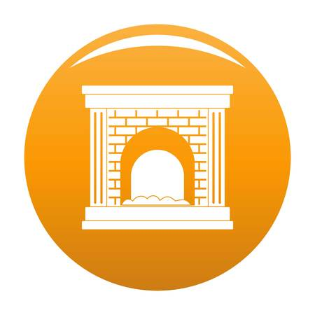 Fireplace for fire icon orange