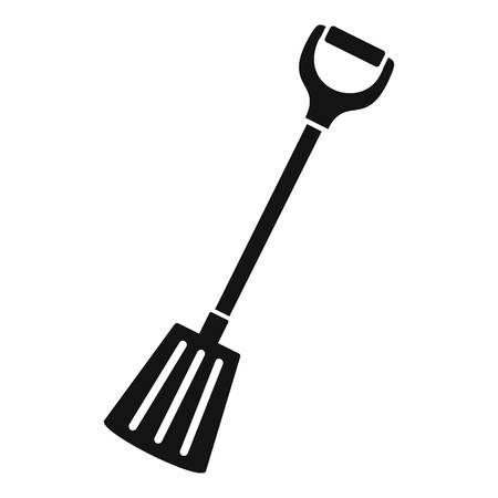 Winter spade icon, simple style Stock Photo