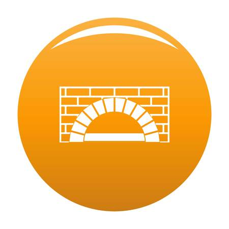Brick oven icon orange Stock Photo