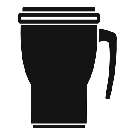 Thermo cup icon, simple style Stock fotó