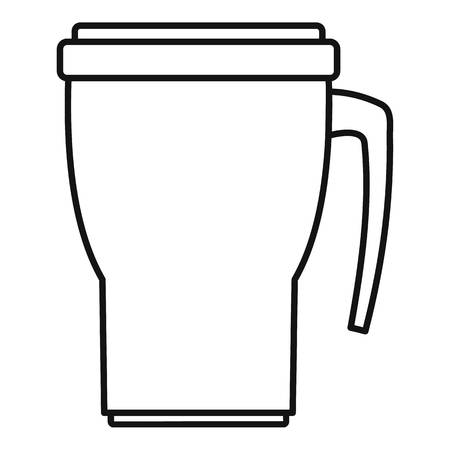 Thermo cup icon, outline style Stock fotó