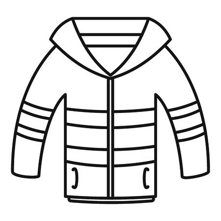 Winter jacket icon. Outline illustration of winter jacket icon for web design isolated on white background