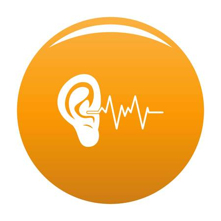 Ear icon orange