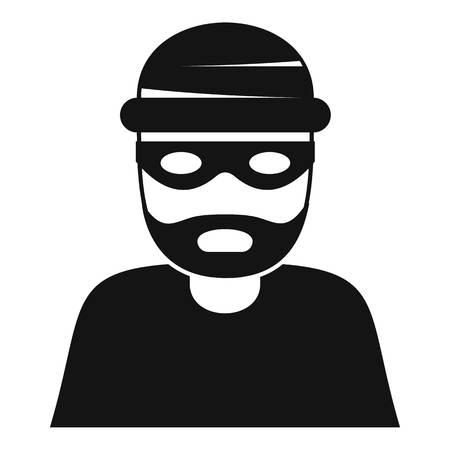 Icône de voleur, style simple Banque d'images