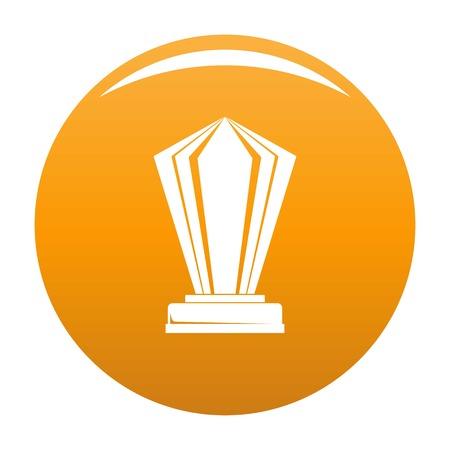 Award icon orange Banque d'images