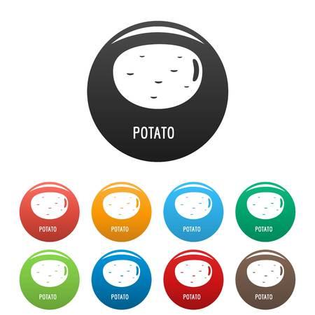 Potato icon. Simple illustration of potato icons set color isolated on white Stock Photo