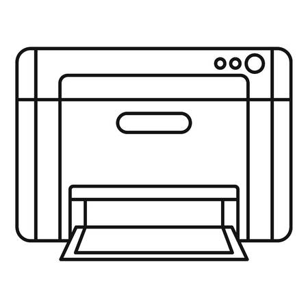 Printer icon. Outline illustration of printer icon for web design isolated on white background