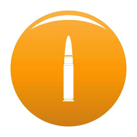 Cartridge for weapon icon. Simple illustration of cartridge for weapon icon for any design orange
