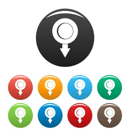 Pushpin icon. Simple illustration of pushpin icons set color isolated on white