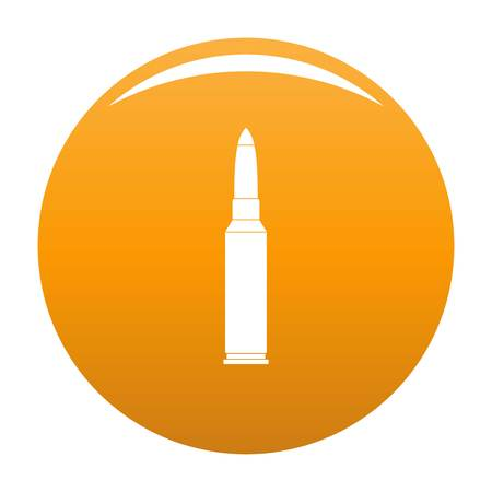 Single bullet icon. Simple illustration of single bullet icon for any design orange