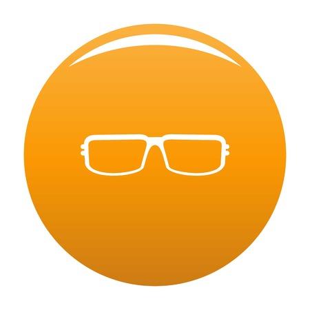 Myopic eyeglasses icon. Simple illustration of myopic eyeglasses icon for any design orange Stock Photo