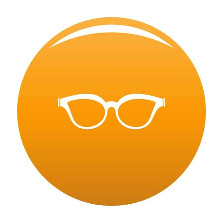 Myopic spectacles icon. Simple illustration of myopic spectacles icon for any design orange