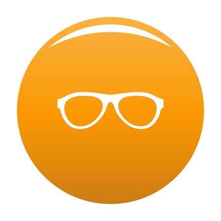 Myopic glasses icon. Simple illustration of myopic glasses icon for any design orange Stock Photo