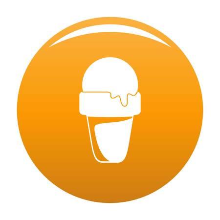 Ice cream summer icon. Simple illustration of ice cream summer icon for any design orange