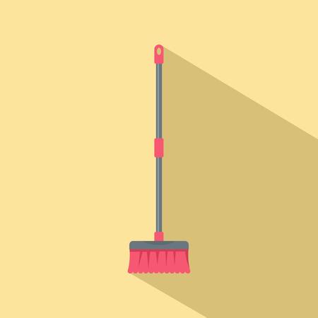Brush mop icon. Flat illustration of brush mop icon for web design Фото со стока