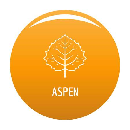 Aspen leaf icon. Simple illustration of aspen leaf icon for any design orange