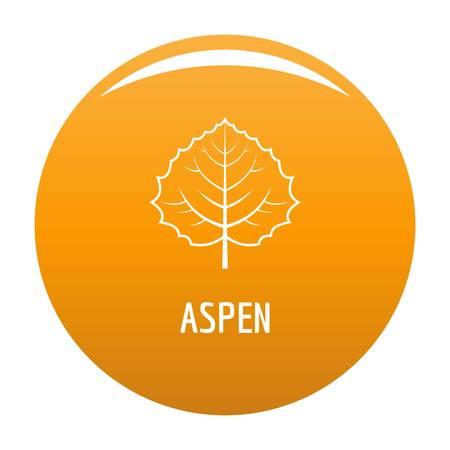 Aspen blad pictogram. Eenvoudige illustratie van espbladpictogram voor elk ontwerpsinaasappel