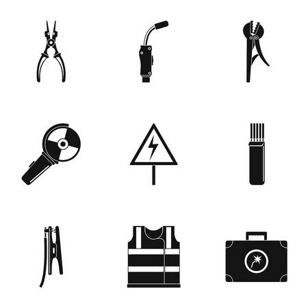 Workman icons set. Simple set of 9 workman icons for web isolated on white background