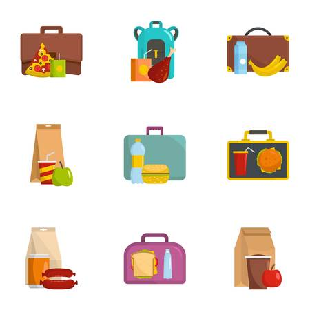 Luggage icons set. Cartoon set of 9 luggage icons for web isolated on white background