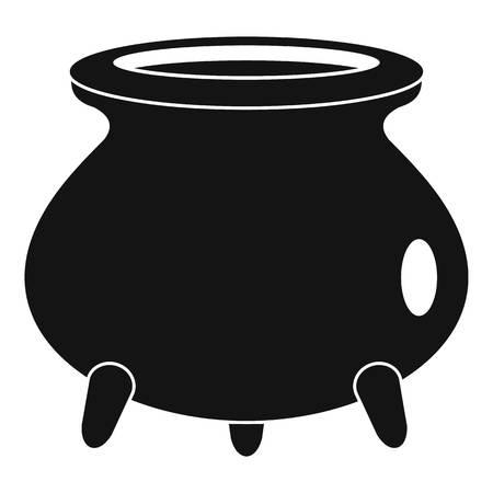 Retro cauldron icon. Simple illustration of retro cauldron icon for web design isolated on white background Stock Photo