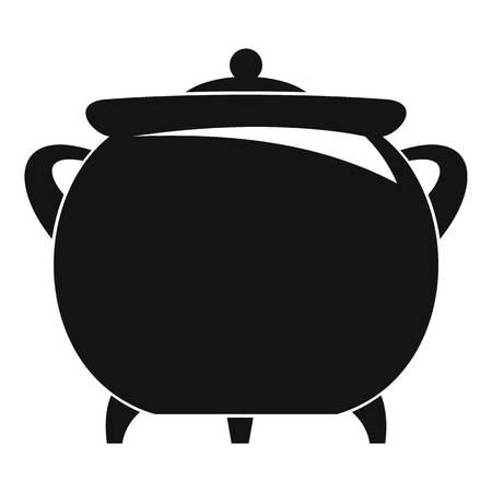 Cauldron icon. Simple illustration of cauldron icon for web design isolated on white background Stock Photo