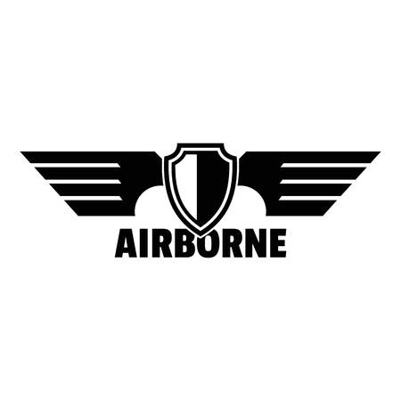 Airborne wings logo. Simple illustration of airborne wings logo for web design isolated on white background