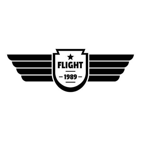 Flight 1989 logo. Simple illustration of flight 1989 logo for web design isolated on white background Stock Photo
